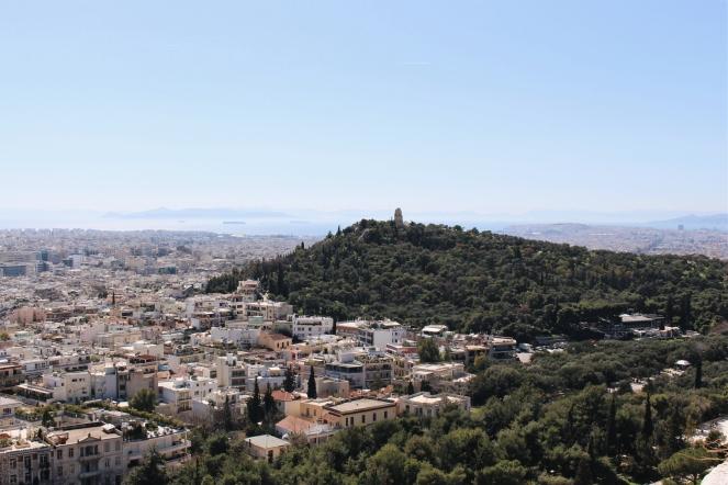 athene akropolis uitzicht