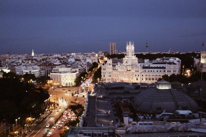 Madrid Círculo de Bellas Artes rooftop view